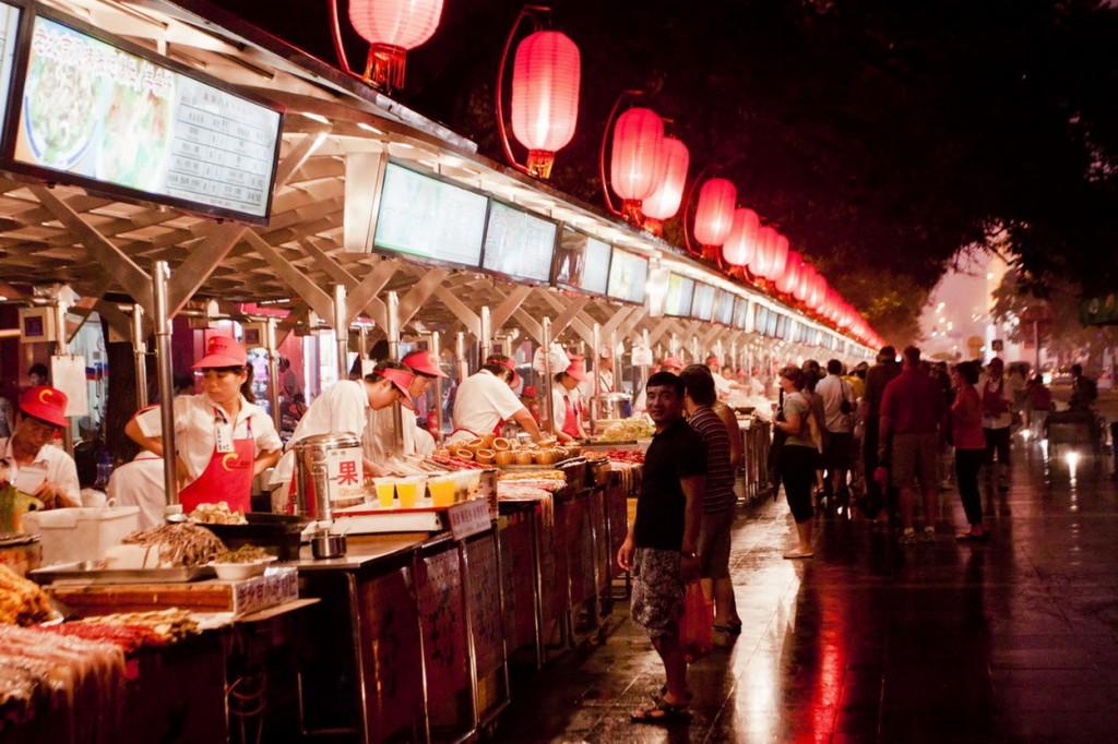 Mercado de Donghuamen Pekin