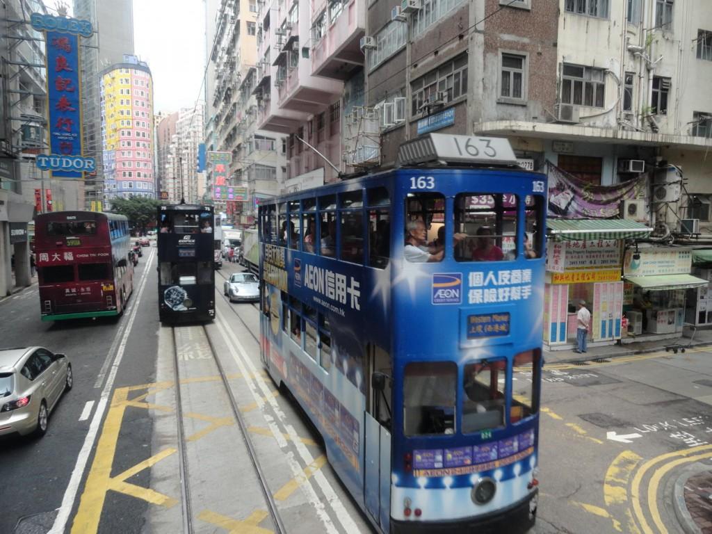 Un paseo en los tranvías de Hong Kong