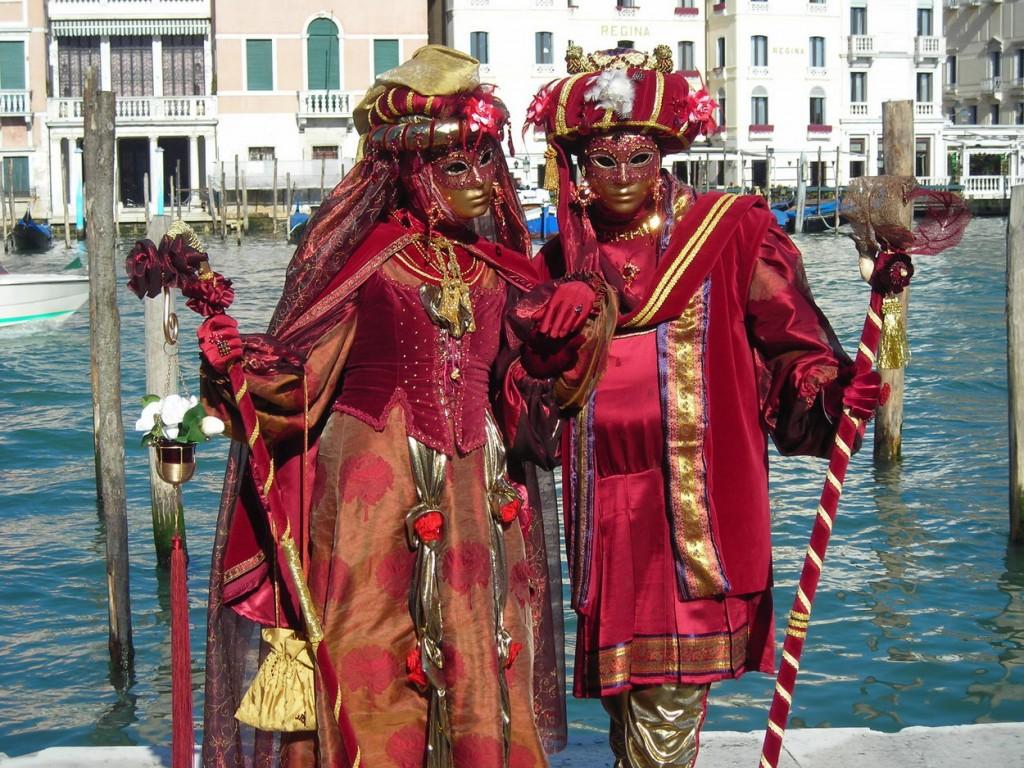 Disfraces y mascaras en el carnaval de venecia