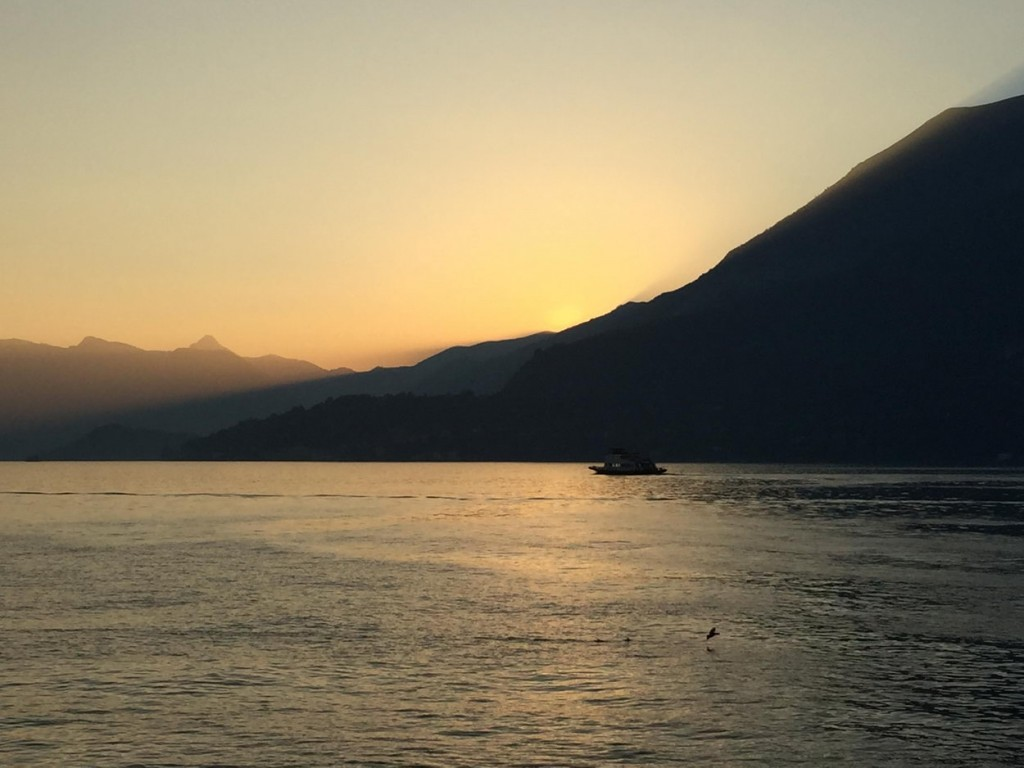 Atardecer en Lago di Como