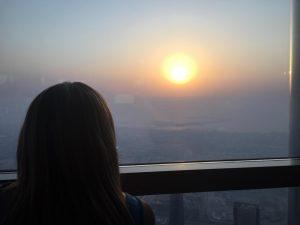 Dubai en un dia - Atardecer desde el Edificio Burj Khalifa