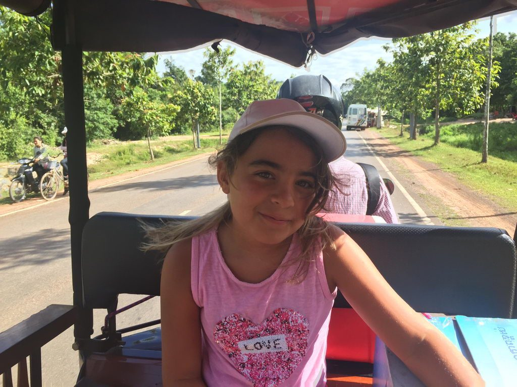 Viajando en tuk tuk en Camboya