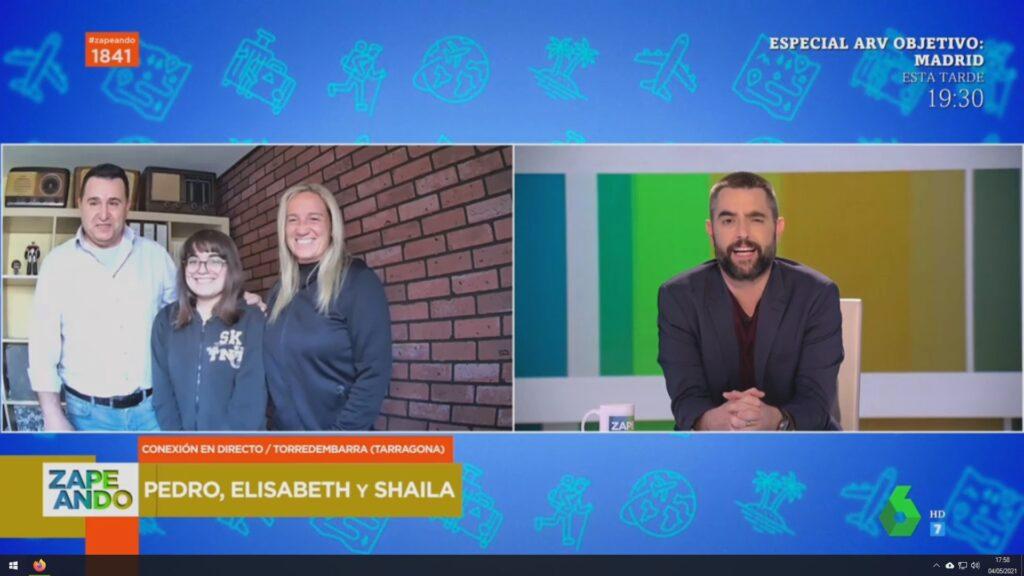 Videollamada en directo en La Sexta TV